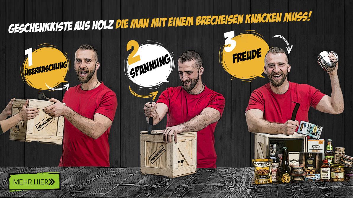 Originelle Geschenke Fur Manner Verpackt In Einer Holzkiste